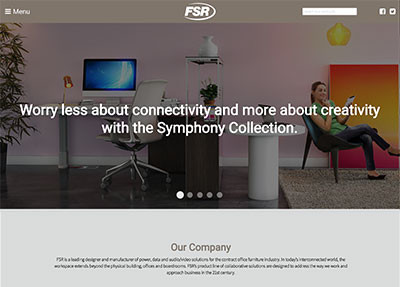 FSR Targets the Design Community and Furniture Dealers with Dedicated Website Featuring Latest Innovations in Today's Interconnected Workspace